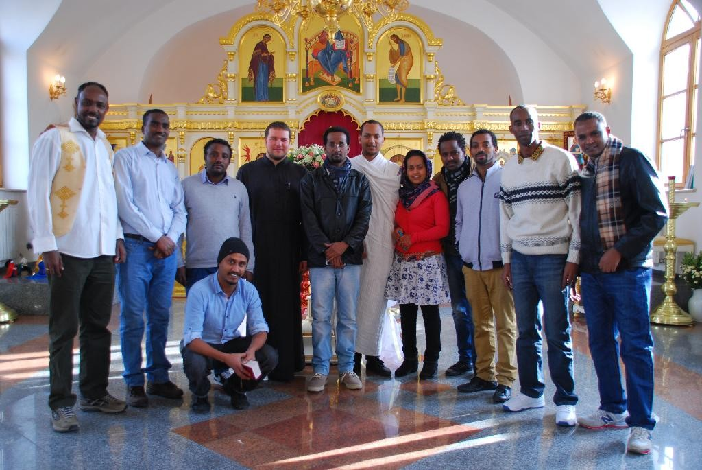 Гости из православной Эфиопии посетили Успенский храм